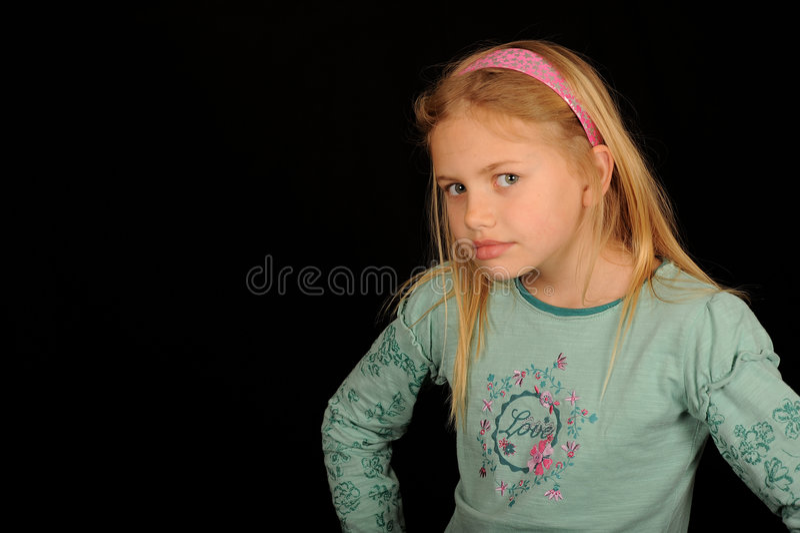 Download Young girl looking cross stock photo. Image of grumpy - 9041112