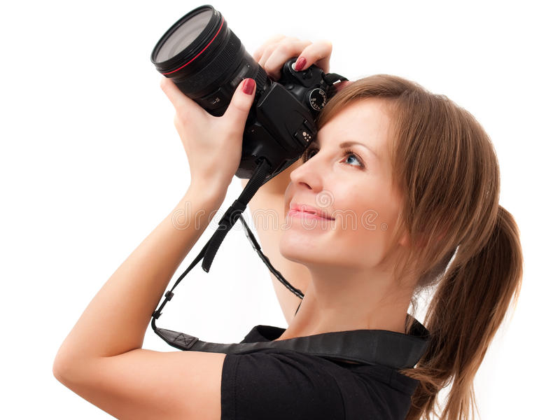 Download Young Girl Making Photograph Stock Photo - Image: 12127000