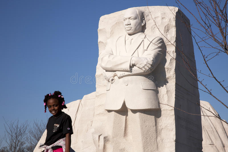 Download Young girl at MLK Memorial editorial stock image. Image of capitol - 22672334