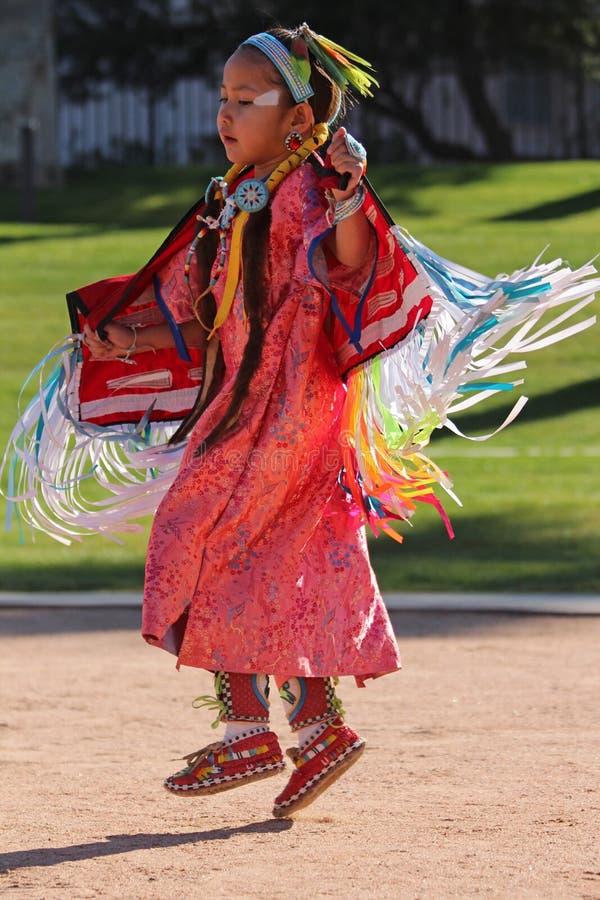 Young Girl - Native American Powwow royalty free stock photo