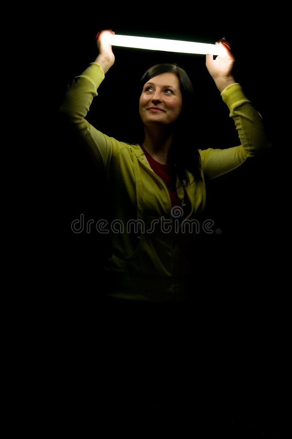 Download Young Girl With A Nimb Stock Image - Image: 7631631