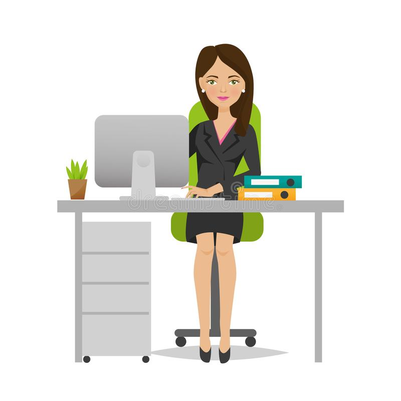 Free Young Girl Of An Office Worker Rejoices In Success, Working. Royalty Free Stock Image - 101870736