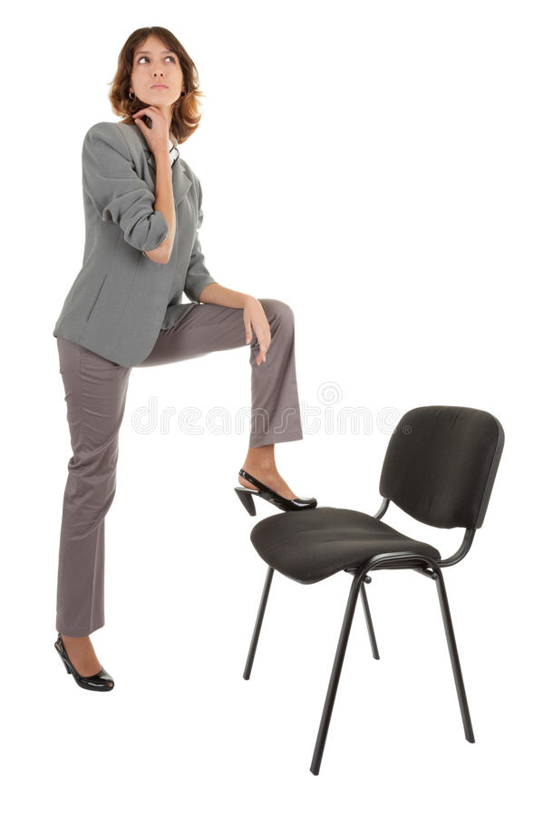 Download Young Girl In Office Clouses Stock Photo - Image: 12490906