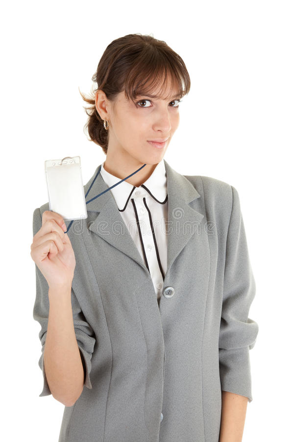 Download Young Girl In Office Clouses Stock Image - Image: 12623357
