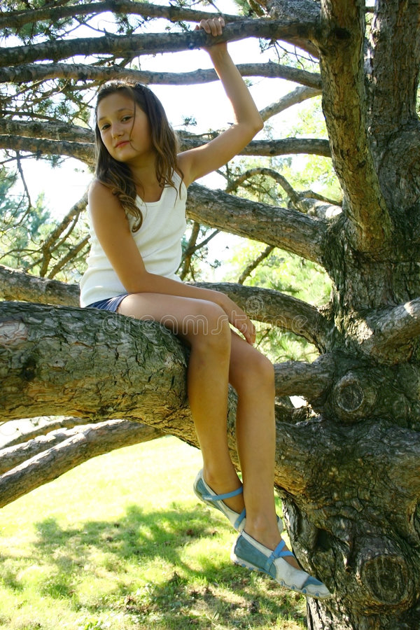 Free Young Girl On Tree Branch Royalty Free Stock Photography - 6614257