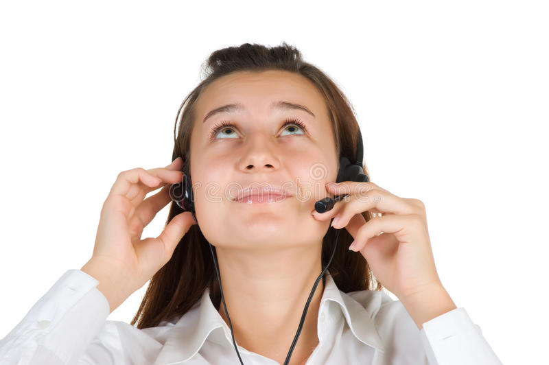 Young Girl Operator Call Center Royalty Free Stock Image