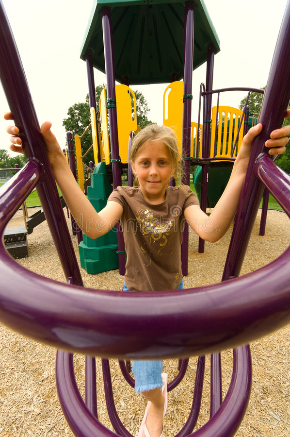Download Young girl playing stock image. Image of playing, climbing - 3045615