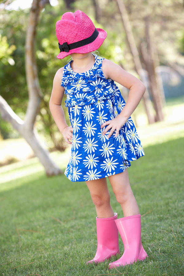 Download Young Girl Playing In Summer Garden Stock Image - Image: 26615401