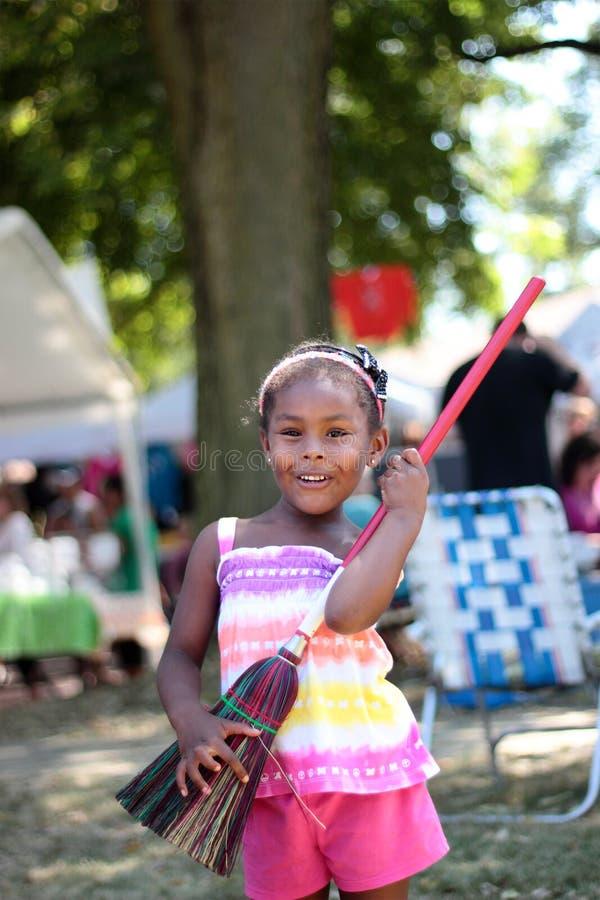 Young Girl Plays Air Guitar Stock Photography - Image 33609322-6942