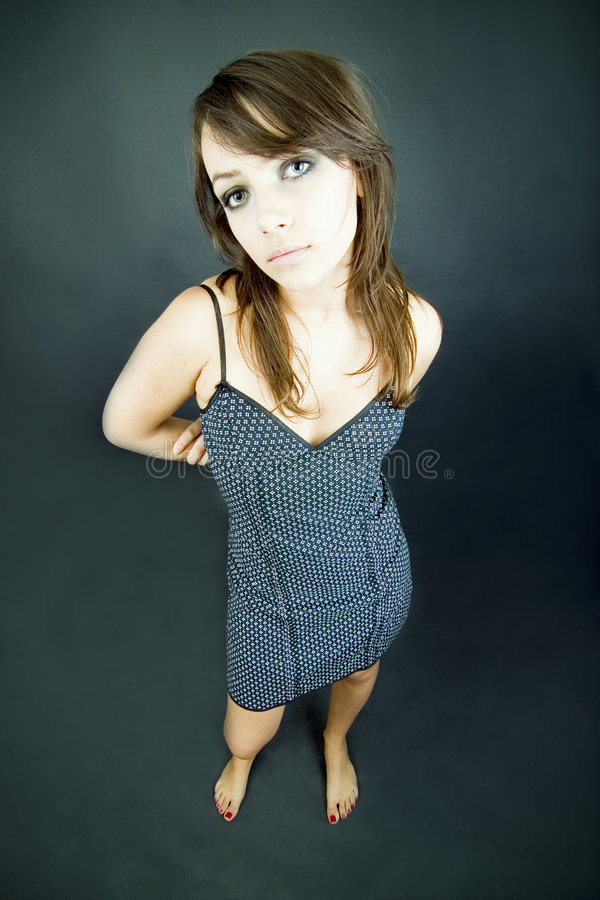 Download Young Girl In Polka Dot Dress Stock Image - Image: 1928545