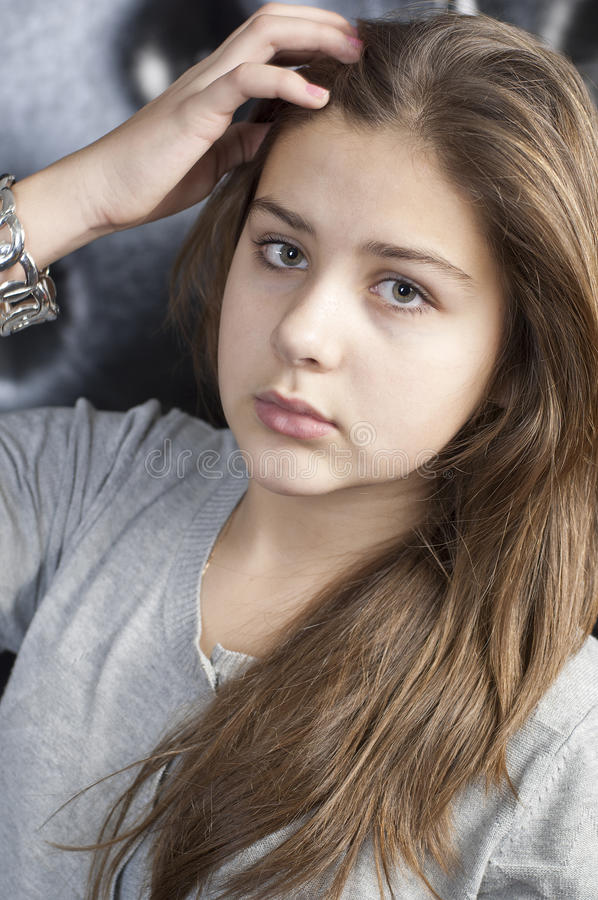 Young girl portrait royalty free stock photos