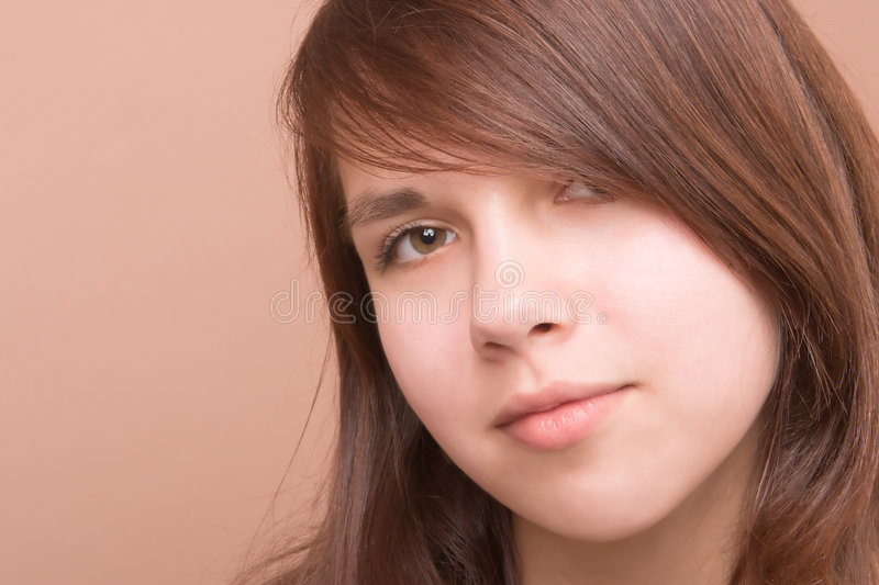 Young girl portrait stock image