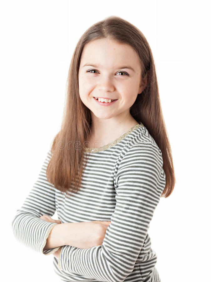 Download Young Girl stock photo. Image of little, striped, person - 37676960