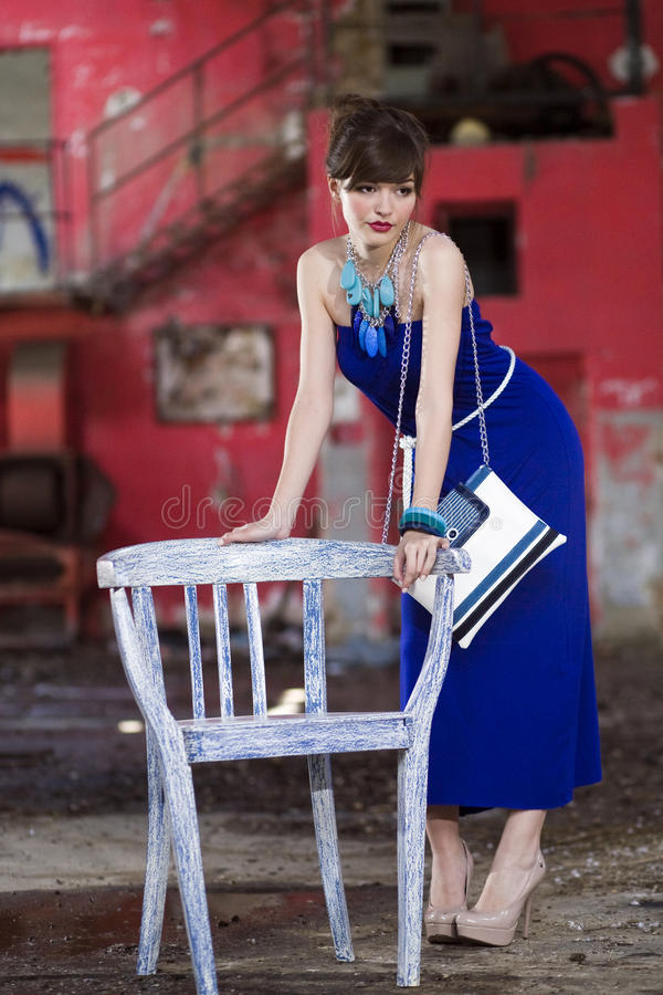 Download Young girl posing stock image. Image of beautiful, glamour - 28935071