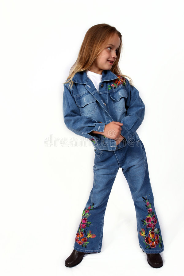 Young girl posing stock photo