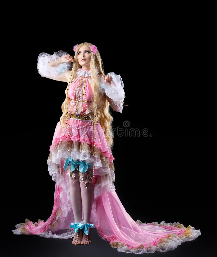Download Young Girl Posing In Fairy-tale Cosplay Costume Royalty Free Stock Photography - Image: 21292787