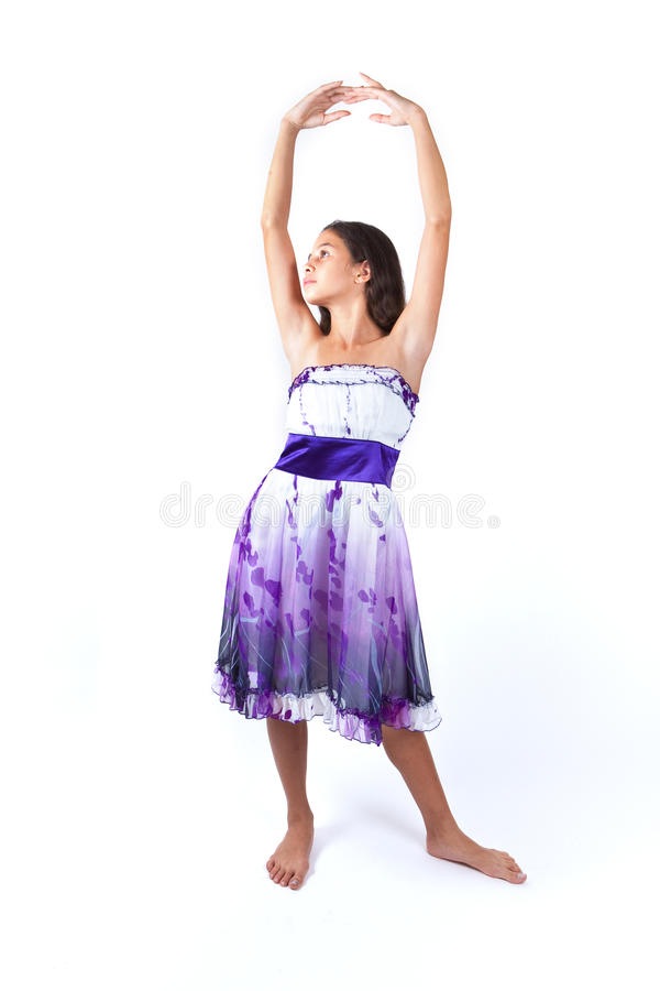 Young girl practicing ballet stock images