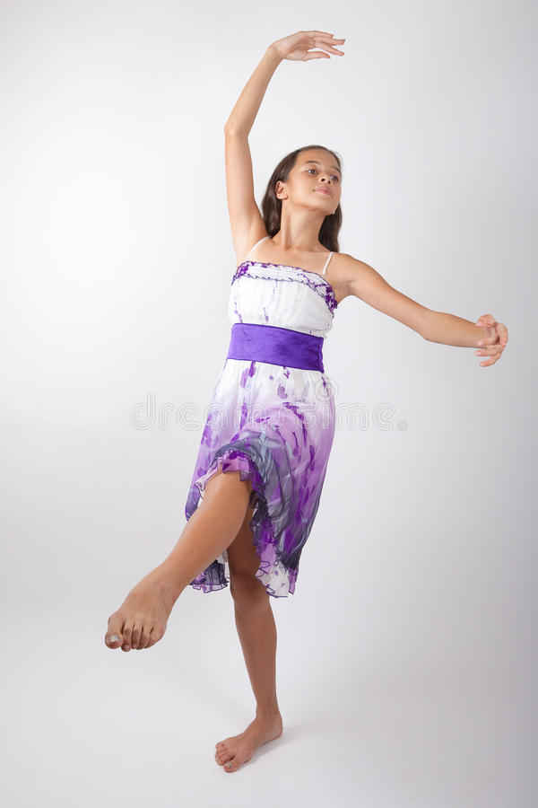 Young girl practicing ballet royalty free stock photography
