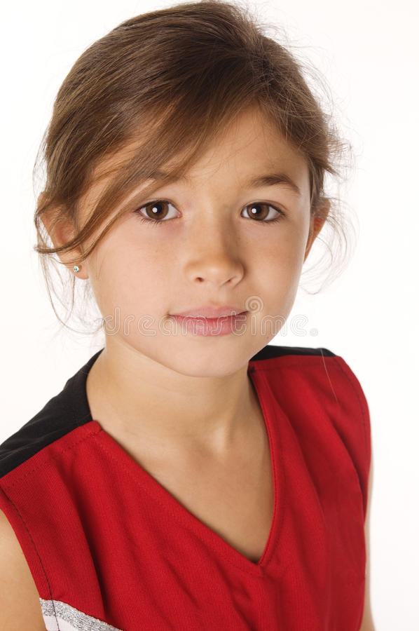 Young girl with pretty smile stock image