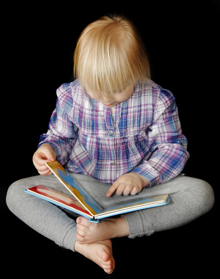 Download Young Girl Reading Book Royalty Free Stock Photos - Image: 18643608