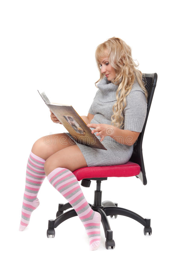 Download Young girl reading book stock image. Image of education - 26422447