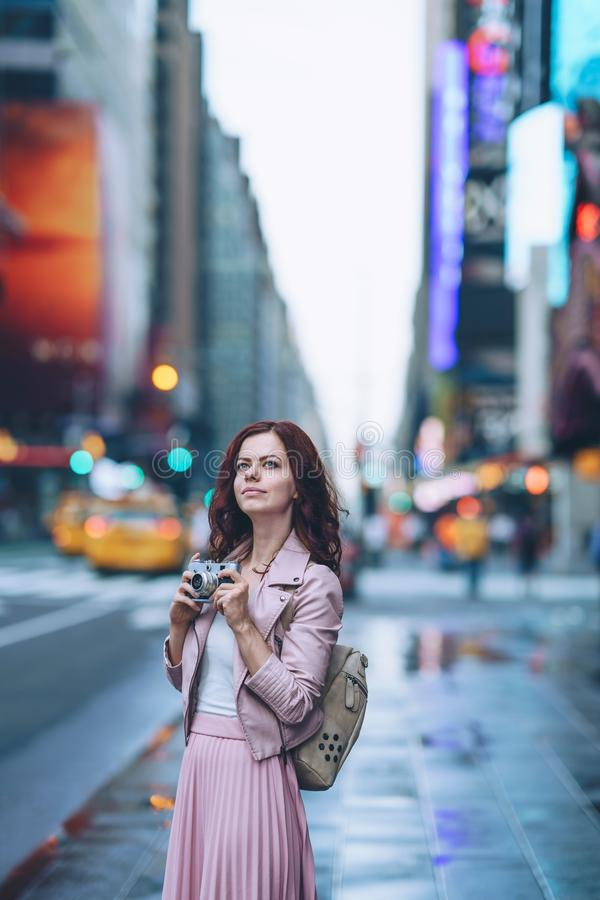Young girl in New York royalty free stock photos