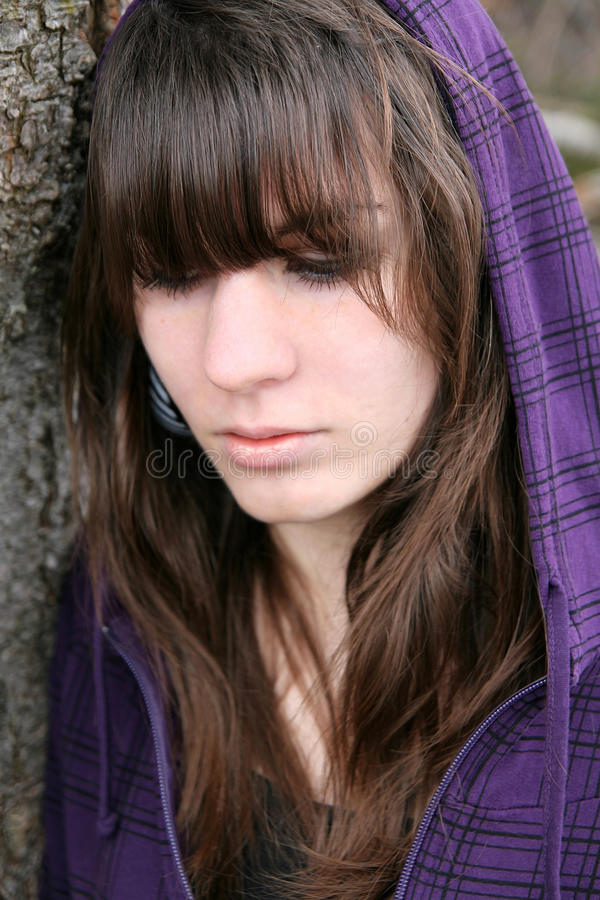 Download A Young Girl Is Sad Stock Photo - Image: 28141930