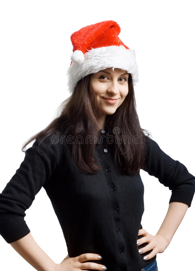 Download Young Girl In A Santa Claus Hat Stock Photo - Image: 19806254
