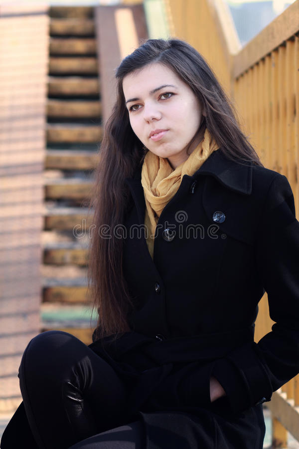 Download Young Girl with scarf stock photo. Image of female, dress - 23788236