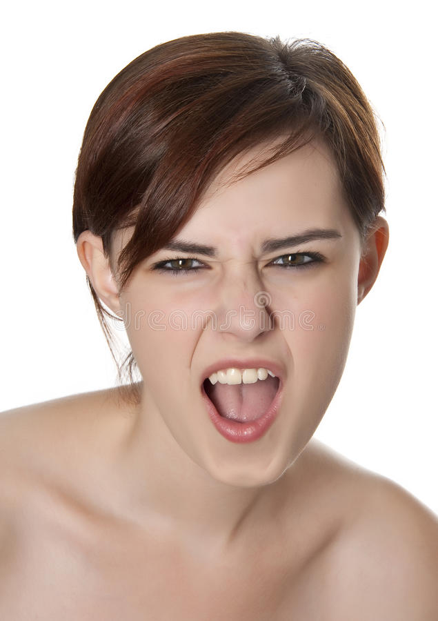 Download Young girl screaming stock photo. Image of adult, cosmetic - 26494376