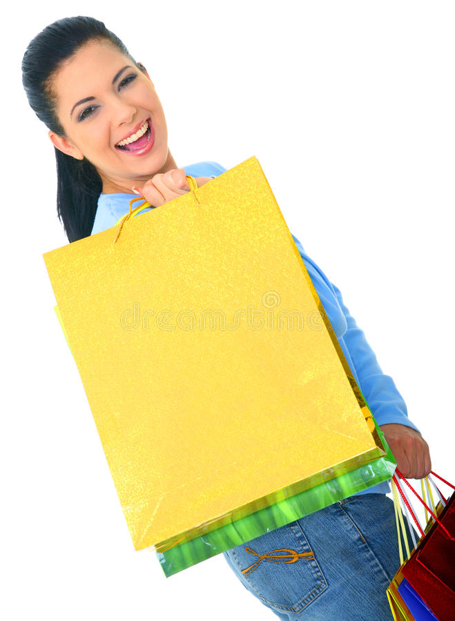 Download Young Girl Shopping stock photo. Image of female, phone - 12680192