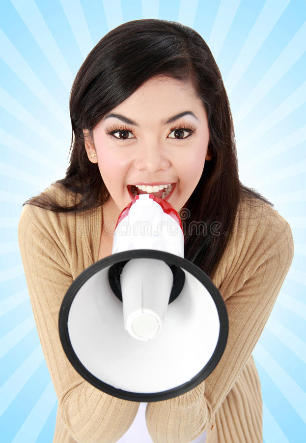 Young girl shouting royalty free stock photos