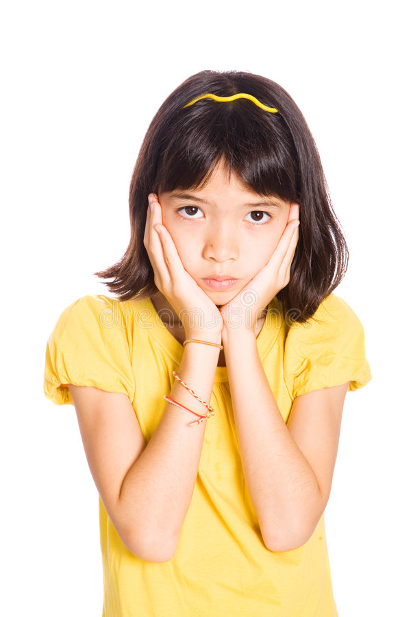 Download Young Girl Showing Emotion Of Sadness Stock Image - Image: 5474831