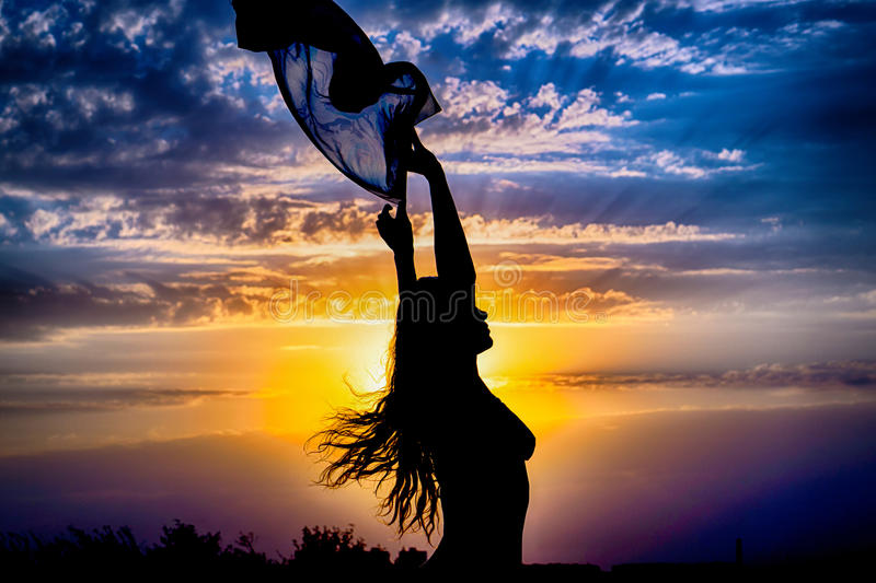 Young girl silhouette with shawl stock image image of body cloud download young girl silhouette with shawl stock image image of body cloud 68927055 thecheapjerseys Image collections