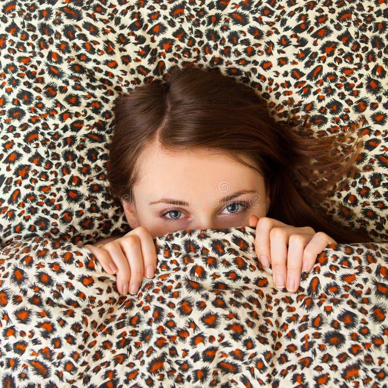 Young girl sleeping stock photography