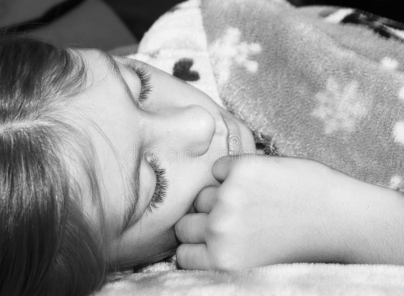 Young Girl Sleeping royalty free stock images