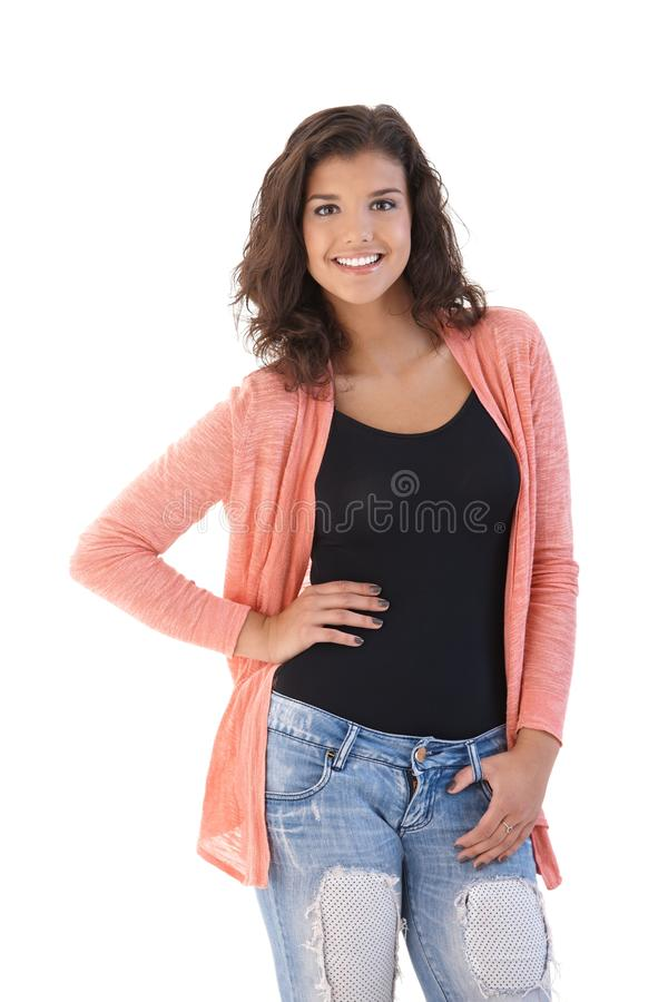 Download Young girl smiling posing stock photo. Image of happy - 22199198