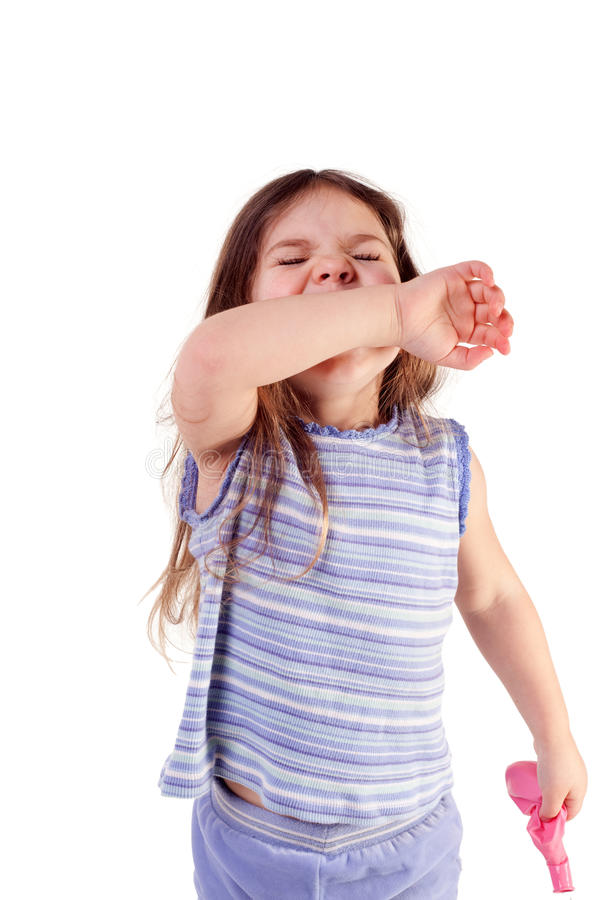 Young Girl Sneezing stock photography