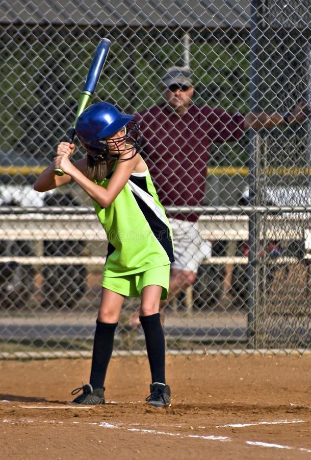 Download Young Girl Sofball Player At Bat Stock Photo - Image: 19940196