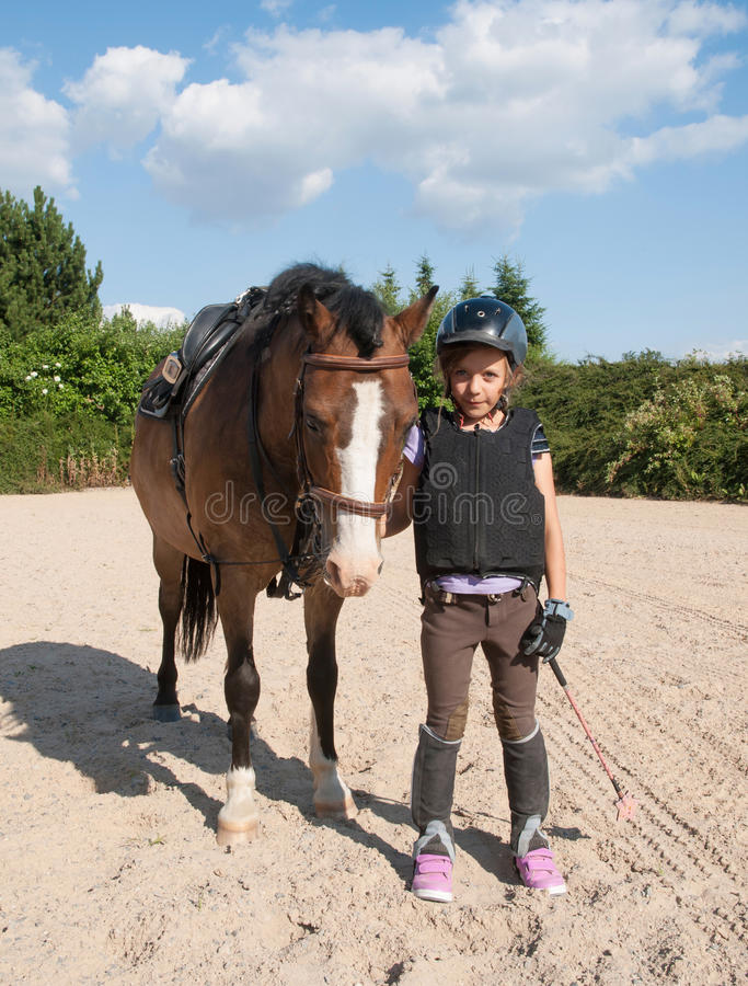 Young girl with sportonny stock images
