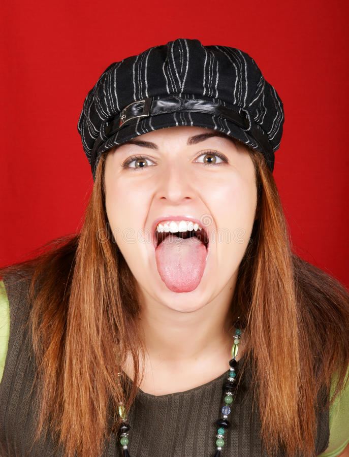 Download Young Girl Sticking Out Her Tongue Stock Image - Image: 12192361