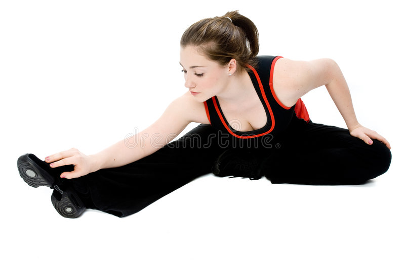Young Girl Stretching stock image