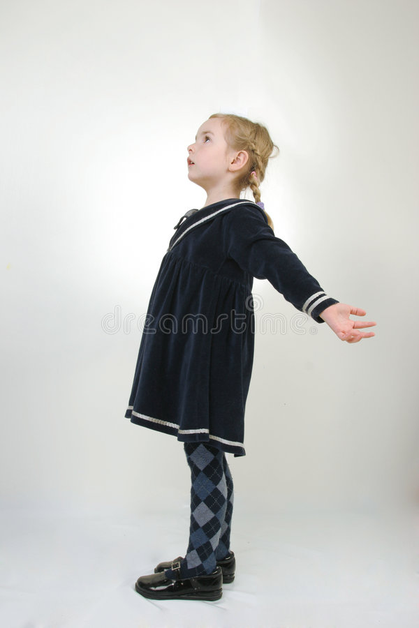 Download Young girl stretching stock image. Image of education - 5171387