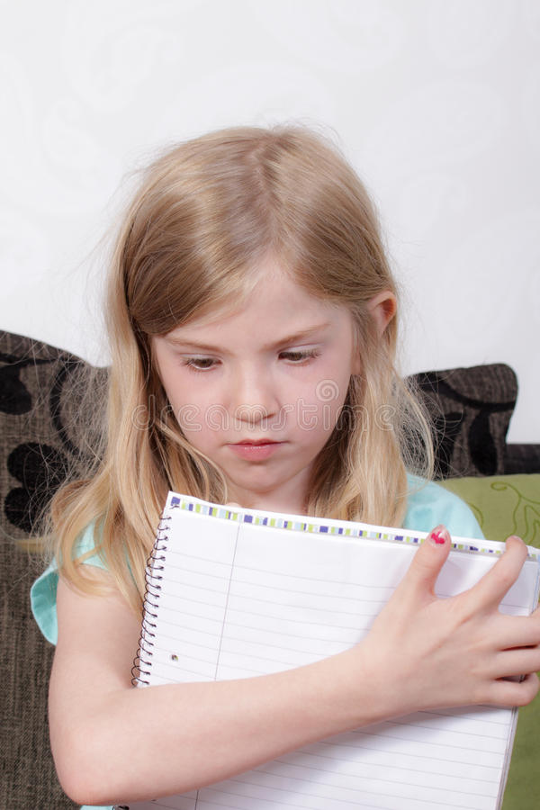 Download Young girl studying stock image. Image of studying, homework - 26106985