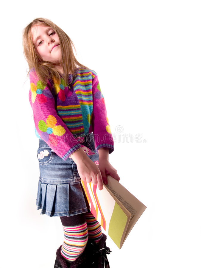Young girl studying royalty free stock photo