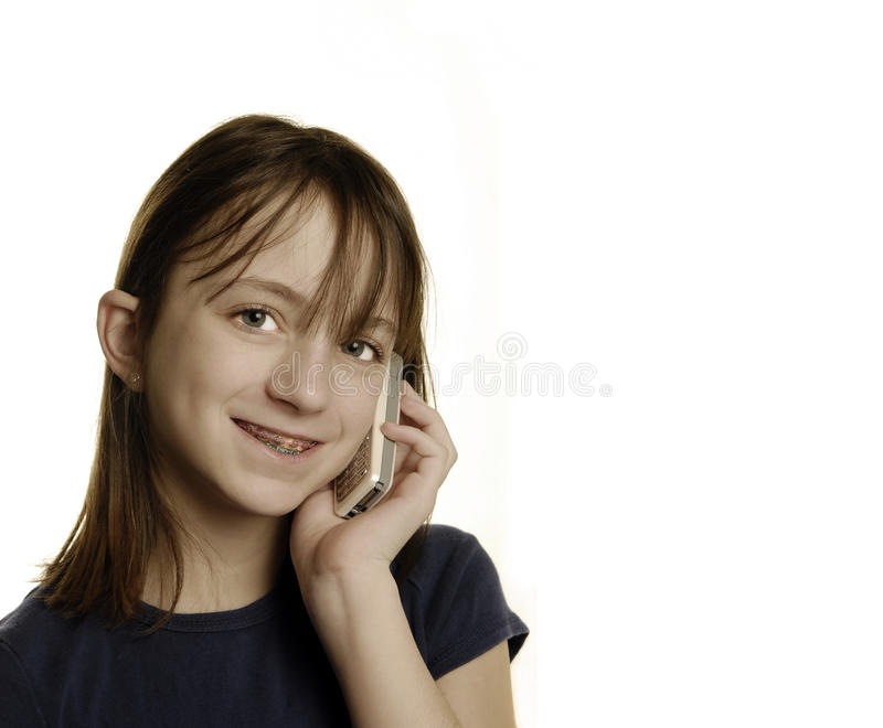 Download Young Girl Talking On Cellphone Stock Photo - Image: 12603878
