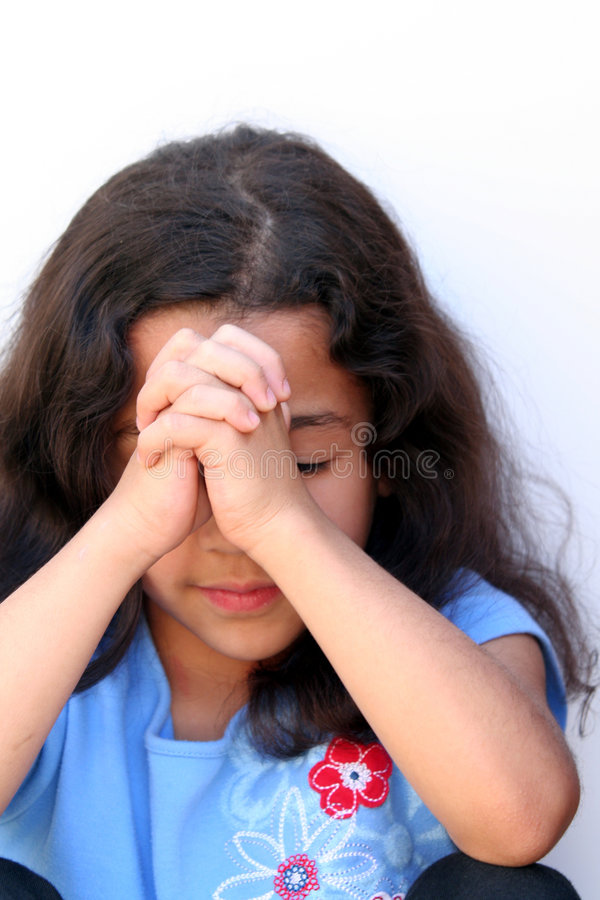 Young Girl Thinking royalty free stock photography