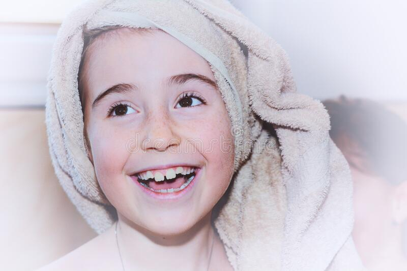 Young Girl With Towel On Head Free Public Domain Cc0 Image