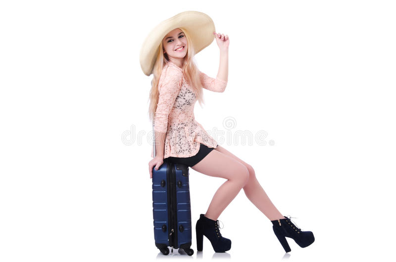 Young girl traveller royalty free stock images