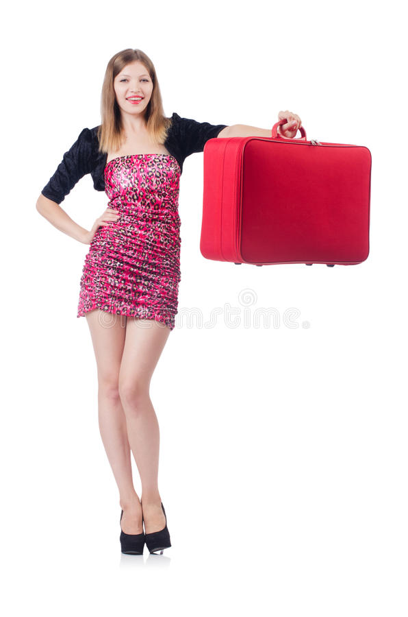 Young Girl Travelling Royalty Free Stock Images